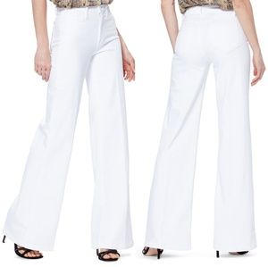 Vince White Wide Leg High Rose Jeans